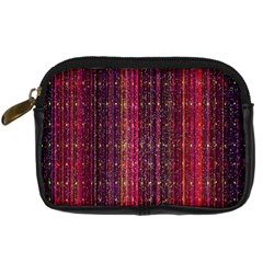 Colorful And Glowing Pixelated Pixel Pattern Digital Camera Cases by Amaryn4rt