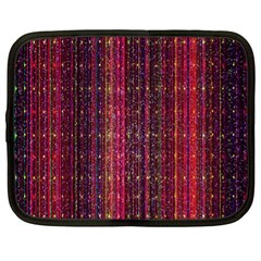 Colorful And Glowing Pixelated Pixel Pattern Netbook Case (xl)  by Amaryn4rt
