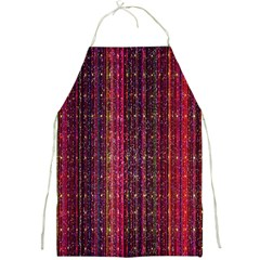 Colorful And Glowing Pixelated Pixel Pattern Full Print Aprons by Amaryn4rt