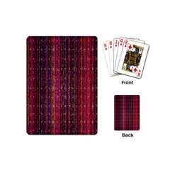 Colorful And Glowing Pixelated Pixel Pattern Playing Cards (mini)  by Amaryn4rt