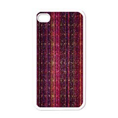 Colorful And Glowing Pixelated Pixel Pattern Apple Iphone 4 Case (white) by Amaryn4rt
