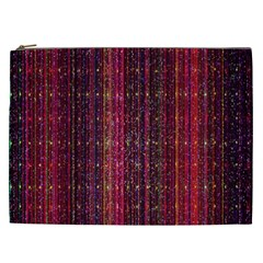 Colorful And Glowing Pixelated Pixel Pattern Cosmetic Bag (xxl)  by Amaryn4rt