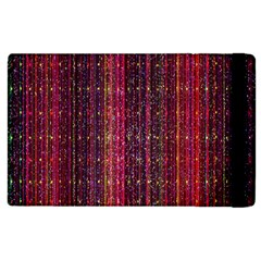 Colorful And Glowing Pixelated Pixel Pattern Apple Ipad 2 Flip Case by Amaryn4rt