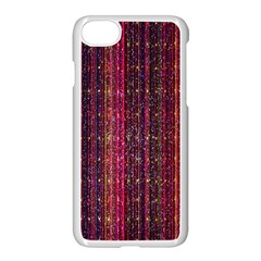 Colorful And Glowing Pixelated Pixel Pattern Apple Iphone 7 Seamless Case (white) by Amaryn4rt