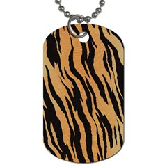 Tiger Animal Print A Completely Seamless Tile Able Background Design Pattern Dog Tag (two Sides) by Amaryn4rt