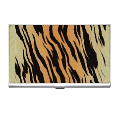 Tiger Animal Print A Completely Seamless Tile Able Background Design Pattern Business Card Holders by Amaryn4rt