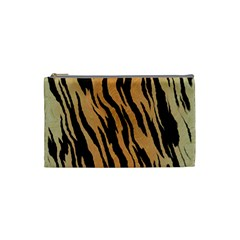 Tiger Animal Print A Completely Seamless Tile Able Background Design Pattern Cosmetic Bag (small)  by Amaryn4rt