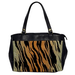 Tiger Animal Print A Completely Seamless Tile Able Background Design Pattern Office Handbags by Amaryn4rt