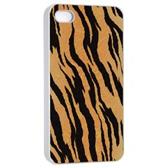 Tiger Animal Print A Completely Seamless Tile Able Background Design Pattern Apple Iphone 4/4s Seamless Case (white) by Amaryn4rt