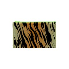 Tiger Animal Print A Completely Seamless Tile Able Background Design Pattern Cosmetic Bag (xs) by Amaryn4rt