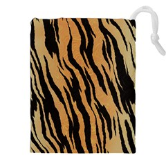 Tiger Animal Print A Completely Seamless Tile Able Background Design Pattern Drawstring Pouches (xxl) by Amaryn4rt