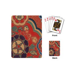 Vintage Chinese Brocade Playing Cards (mini)  by Amaryn4rt