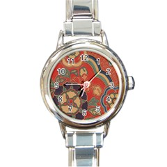 Vintage Chinese Brocade Round Italian Charm Watch by Amaryn4rt
