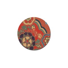 Vintage Chinese Brocade Golf Ball Marker by Amaryn4rt