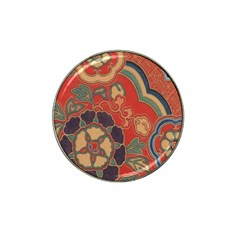Vintage Chinese Brocade Hat Clip Ball Marker by Amaryn4rt