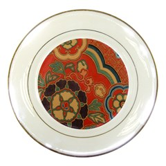 Vintage Chinese Brocade Porcelain Plates by Amaryn4rt