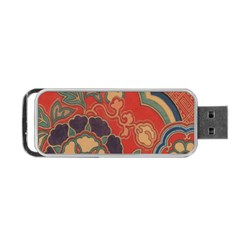 Vintage Chinese Brocade Portable Usb Flash (two Sides) by Amaryn4rt