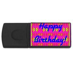 Happy Birthday! Usb Flash Drive Rectangular (4 Gb) by Amaryn4rt