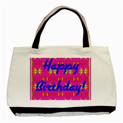 Happy Birthday! Basic Tote Bag (two Sides) by Amaryn4rt