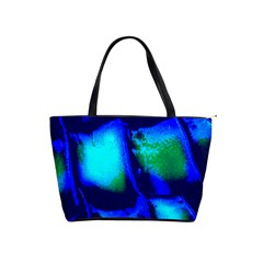Blue Scales Pattern Background Shoulder Handbags by Amaryn4rt
