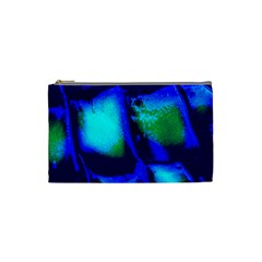 Blue Scales Pattern Background Cosmetic Bag (small)  by Amaryn4rt