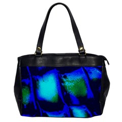 Blue Scales Pattern Background Office Handbags by Amaryn4rt