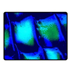 Blue Scales Pattern Background Fleece Blanket (small) by Amaryn4rt