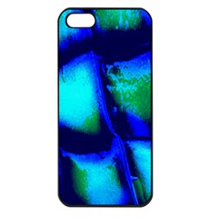 Blue Scales Pattern Background Apple Iphone 5 Seamless Case (black) by Amaryn4rt