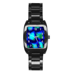 Blue Scales Pattern Background Stainless Steel Barrel Watch by Amaryn4rt