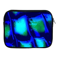 Blue Scales Pattern Background Apple Ipad 2/3/4 Zipper Cases