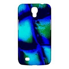 Blue Scales Pattern Background Samsung Galaxy Mega 6 3  I9200 Hardshell Case by Amaryn4rt