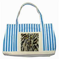 Tiger Background Fabric Animal Motifs Striped Blue Tote Bag by Amaryn4rt