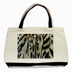 Tiger Background Fabric Animal Motifs Basic Tote Bag (two Sides) by Amaryn4rt