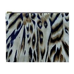 Tiger Background Fabric Animal Motifs Cosmetic Bag (xl) by Amaryn4rt