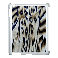 Tiger Background Fabric Animal Motifs Apple Ipad 3/4 Case (white) by Amaryn4rt