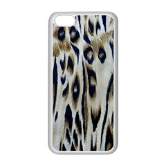 Tiger Background Fabric Animal Motifs Apple Iphone 5c Seamless Case (white) by Amaryn4rt