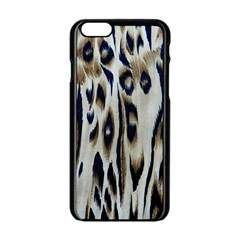 Tiger Background Fabric Animal Motifs Apple Iphone 6/6s Black Enamel Case by Amaryn4rt