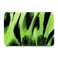 Green Tiger Background Fabric Animal Motifs Plate Mats by Amaryn4rt