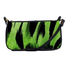 Green Tiger Background Fabric Animal Motifs Shoulder Clutch Bags by Amaryn4rt