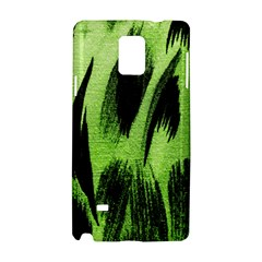 Green Tiger Background Fabric Animal Motifs Samsung Galaxy Note 4 Hardshell Case
