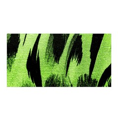 Green Tiger Background Fabric Animal Motifs Satin Wrap by Amaryn4rt