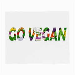 Go Vegan Small Glasses Cloth (2 Side) by Valentinaart