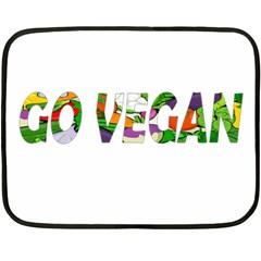 Go Vegan Double Sided Fleece Blanket (mini)  by Valentinaart