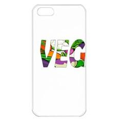 Go Vegan Apple Iphone 5 Seamless Case (white) by Valentinaart