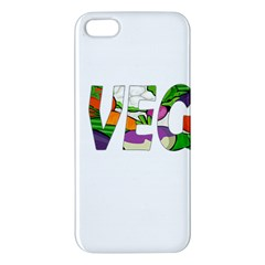 Go Vegan Apple Iphone 5 Premium Hardshell Case by Valentinaart