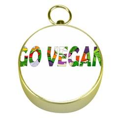 Go Vegan Gold Compasses by Valentinaart