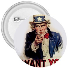 Uncle Sam 3  Buttons by Valentinaart