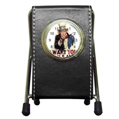 Uncle Sam Pen Holder Desk Clocks by Valentinaart