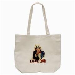 Uncle Sam Tote Bag (cream) by Valentinaart