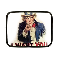Uncle Sam Netbook Case (small)  by Valentinaart